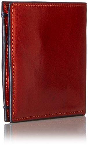 Ted Baker Men's Aunat Bifold Contrast Orange Leather Wallet