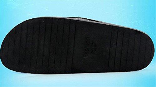 Bininbox Herenslippers Platte Sandaal Ademende Pantoffels Open-teen Vleermuis Bruin