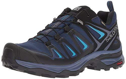 Salomon Women's X Ultra 3 GTX Hiking Shoes, Languid Lavender/Crown Blue/Navy Blazer, 9.5 M US