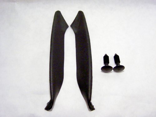 COWLENDS CE-2 - Wiper Cowling Rubber End Pieces for Ford F-150 / Lincoln Mark LT - Driver and Passenger Side; Includes Retaining pins
