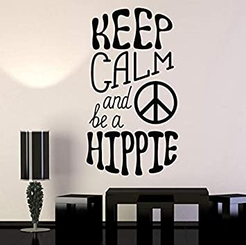 Citar hippie símbolo de amor de paz vinilo tatuajes de pared ...