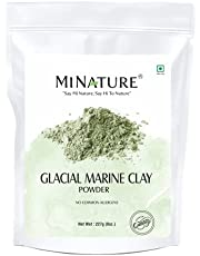 Glacial Marine Clay powder by mi nature   Great for Face Mask, Scrub,Soaps,Bath Bombs, Body Wrap   Removes Acne , Clogged Pores ,Dead skin  227g( 8oz)  Glacial Clay Mask   Glacial Oceanic clay