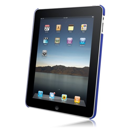 Hypercel Rubberized SnapOn Cover for Apple iPad - Dark Blue