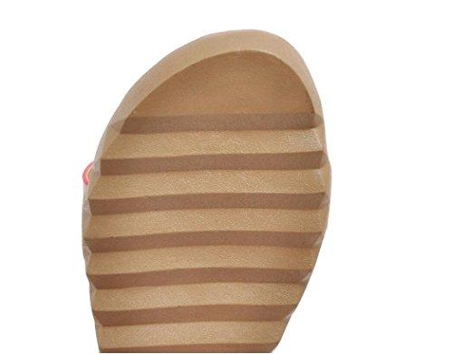 SHFANG Sandalias de las señoras Ocio Parte inferior plana cómoda Grano de buey de imitación Cuero de la PU Escuela suave de los estudiantes que hace compras Cuatro colores los 2cm Black