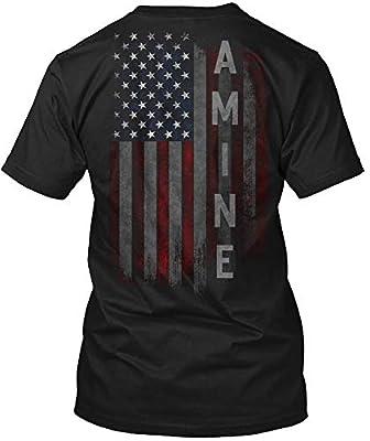 Amine Family American Flag Tshirt - Hanes Tagless Tee