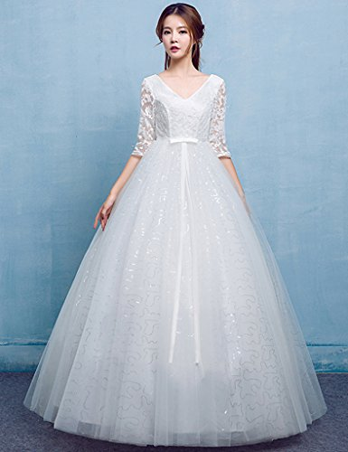 Vimans Damen A-Linie Kleid Weiß dfzzZ4OJTC
