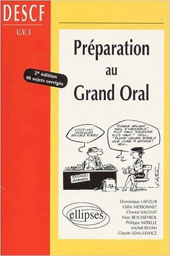 Télécharger en ligne Préparation au Grand Oral DESCF UV, numéro 3 pdf