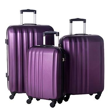 Merax MT Imagine Luggage 3 Piece Spinner Set Purple