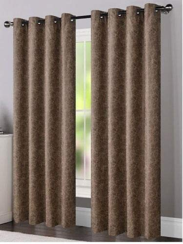 Dillon Faux Leather Textured 54 x 84 in. Grommet Curtain Panel (Sand)