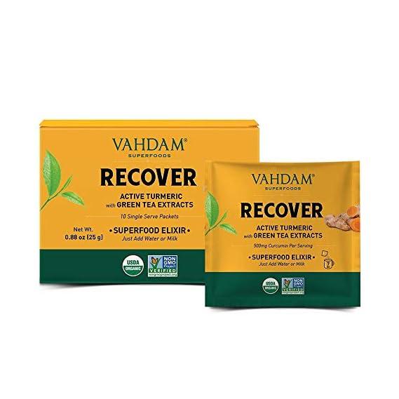 Turmeric + ASHWAGANDHA Instant Elixir - 10 Servings   Turmeric + Ashwagandha + Green Tea Extracts + Matcha   Improves Overall Health & Relieves Stress   USDA Organic, Non-GMO I Vegan & Keto-Friendly