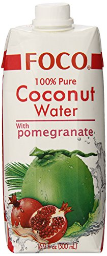 (FOCO Pure Coconut Water with Pomegranate, 16.9Ounce (Pack of 12))