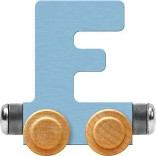 product image for Maple Landmark NameTrain Pastel Letter Car F - Made in USA (Blue)