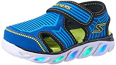 Skechers Hypno-Splash - Zotex Boys Sneakers, Blue/Lime, 6 US