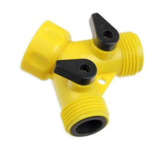 (RAM-PRO 2-Way Hose Non-Rust Spigot Faucet Adapter)