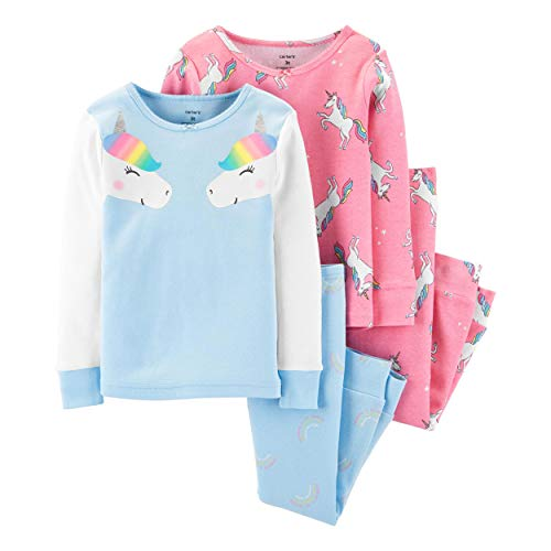 Carters Girls 4 Piece Cotton Pajamas product image