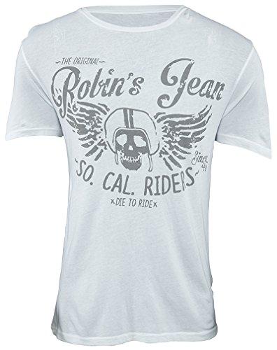 Robin's Jean Tshirt Mens Style : AAA488-WHITE Size : XXL by Robin's Jean