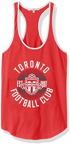 MLS Toronto FC Women's Women's Ringer Tank Top, X-Small, Lc/Sun