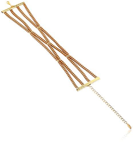 Ettika Modern Amusement in Brown and Gold Choker Necklace...
