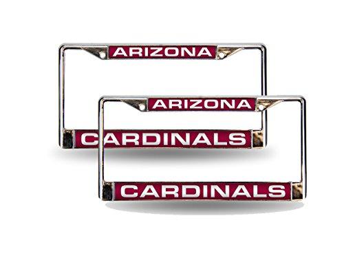 (Rico Arizona Cardinals NFL Chrome Metal (2) Laser Cut License Plate Frame Set)