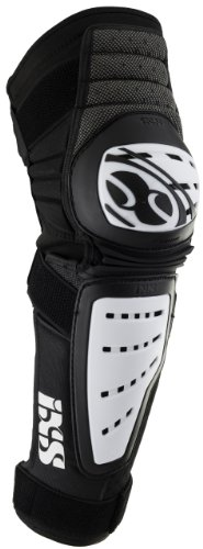 IXS Cleaver Knee/Shin Guards white/black (Size: M) leg protector by IXS