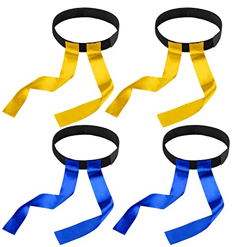 (Bluecell 4pcs Player Flag Belt Sports Team Mark Kit for Kids Children)