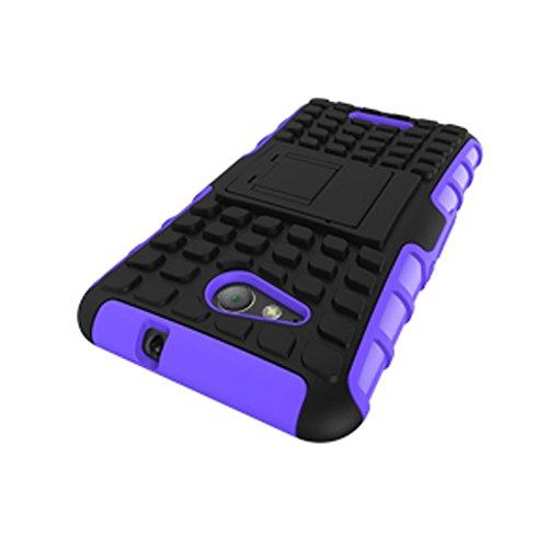 Sony Xperia E4g Funda,COOLKE Duro resistente Choque Heavy Duty Case Hybrid Outdoor Cover case Bumper protección Funda Para Sony Xperia E4g - Rojo púrpura