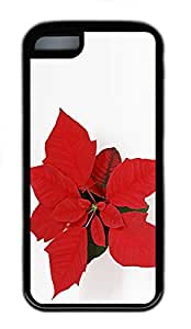 iPhone 5C Case, iPhone 5C Cases - Download Christmas Flower Polycarbonate Hard Case Back Cover for iPhone 5C¨C Black