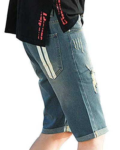 Retro Simple Destruidos Hombres La Moda Ocio Jeans Estilo De Bermudas Pantalones Los Cortos Mezclilla Verano 1 0wqSvwF