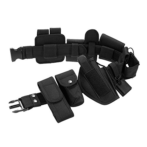 Price comparison product image TYFOCUS Outdoor Tactical Belt Hunting Bags Tactical Belt Holster Security Military Duty Utility Belt with Pouches Holster Gear