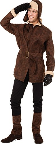 Mens Fancy Dress Party Adults Ww1 Biggles Fighter Pilot Costume Airman Outfit