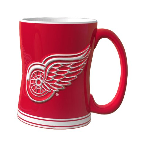 - NHL Detroit Red Wings Sculpted Relief Mug, 14-Ounce