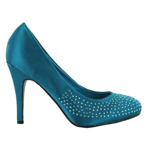 Footwear Sensation - Sandalias de vestir para mujer azul - Teal