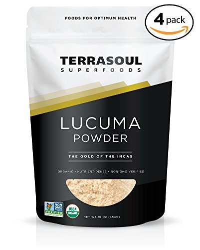 Terrasoul Superfoods Organic Lucuma Powder, 4 Pounds