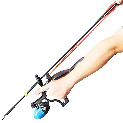 Bowfishing Crossbow - HBG New Fishing Slingshot Professional Outdoor Hunting Shooting Arrows and Steel Ball Sling Shot with 2 Rubber Bands,Arrow Brush,Fishing Reel