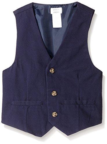 Gymboree Boys' Big Boys' Woven Vest,Dark Marine,Medium (7-8)