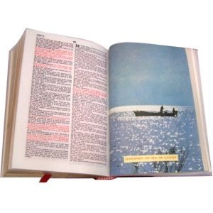 Olive Wood Bible La Santa Biblia Red-letter King James Version Old and New Testament by Bethlehem Gifts TM (Spanish Version)