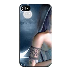 TPU Navy For Iphone 4 LIGHT OF MY LIFE Protective Hard Case