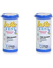 Insta-Test 3 Plus Swimming Pool & Spa Test Strips for Chlorine or Bromine 2 x 50