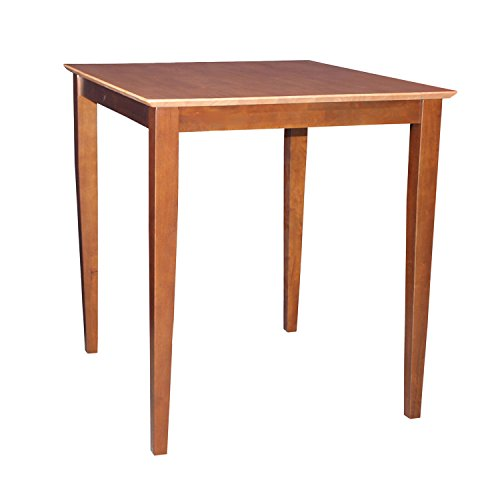 International Concepts Solid Wood Dining Table with Shaker Legs, 30 by 30 by 36-Inch, ()