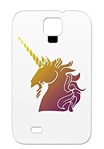 Unicorn Head Brown Dustproof For Sumsang Galaxy S4 TPU Unicorn Head Art Design Fantasy Case