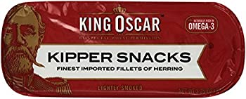 King Oscar Kipper Snacks Finest Imported Fillets of Herring, 3.25 Ounce (Pack of 10)