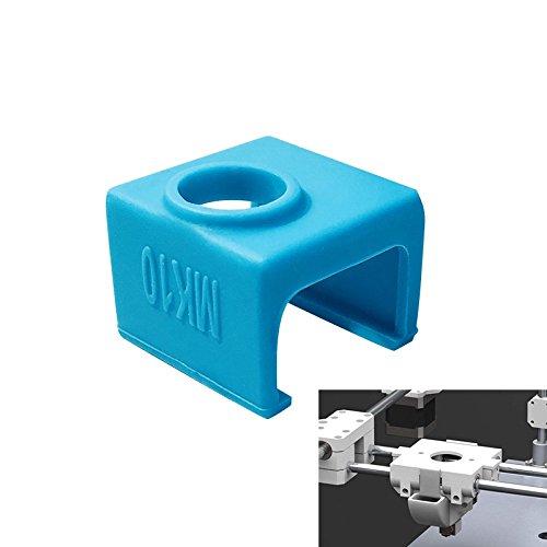 TOOGOO 1pc Silicone Sock Cover MK10 3D Printer Aluminum Heater Block Part