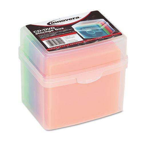 NEW - CD/DVD Slim Storage Box, Holds 20 Disks - 81901