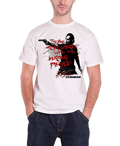 The Walking Dead Wrong People rick grimes Official new White T Shirt all sizes