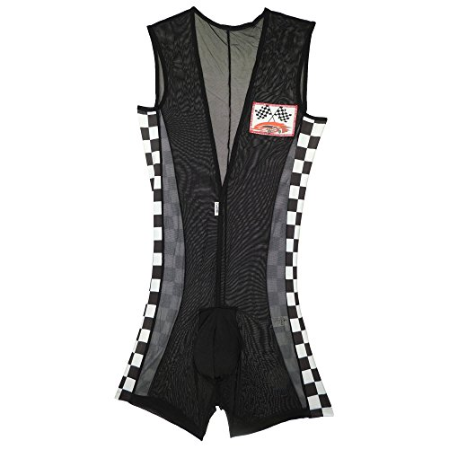 [CandyMan 99150 Racer Mechanic Outfit Color Multi-colored Size XL] (Mens Bedroom Costumes)