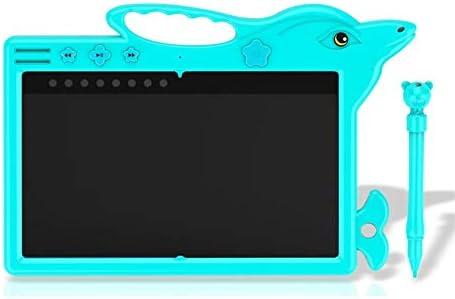 YKAIEET LCD手書きタブレット読み出し指示インテリジェント電子ライティングボード幼児教育製図板機能太い手書き (色 : 青, Size : 9.5 inch)