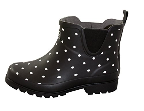 - Jileon Ankle Height Rubber Rain Boots for Women - Wide in The Foot and Ankle