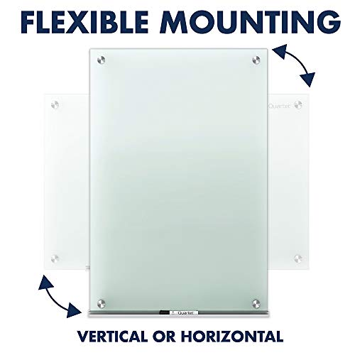 Quartet Glass Whiteboard, Non-Magnetic Dry Erase White Board, 8' x 4', Infinity, Frosted Surface (G9648F) by Quartet (Image #7)