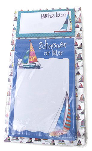 Hatley 2-Note Magnetic Note Pad - Schooner or later Yachts to do Sailing