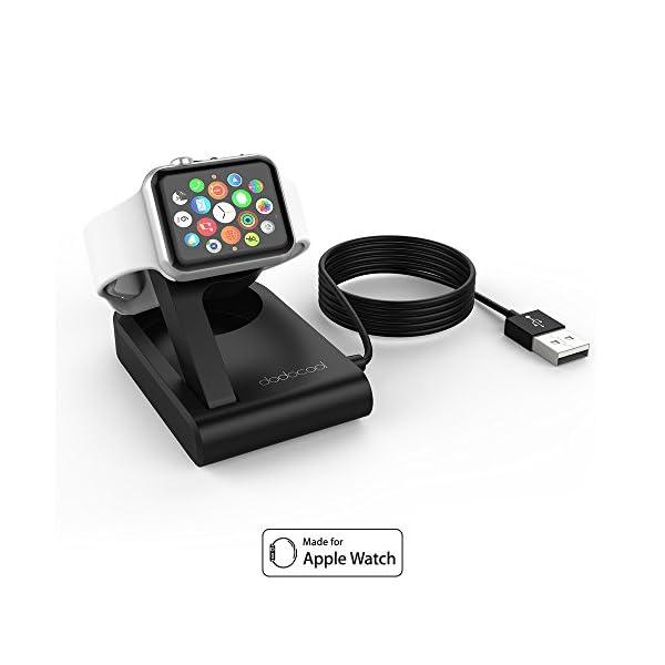 dodocool Caricatore per Apple Watch[MFi Certified], Charger Stand Magnetico Ricarica per iWatch, Compatibile con modalità Nightstand Clock Mode for Apple Watch Series4/Series 3/Series 2/Series 1 1 spesavip